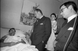 Visitando feridos en Vitoria