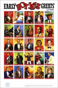 heroes del Jazz dibujados por Crumb