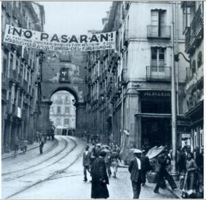 Calle Toledo (Madrid) durante la Guerra Civil